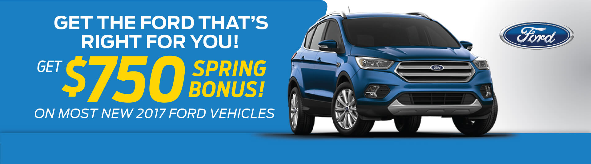 Ford New Vehicle Offer - April 2017