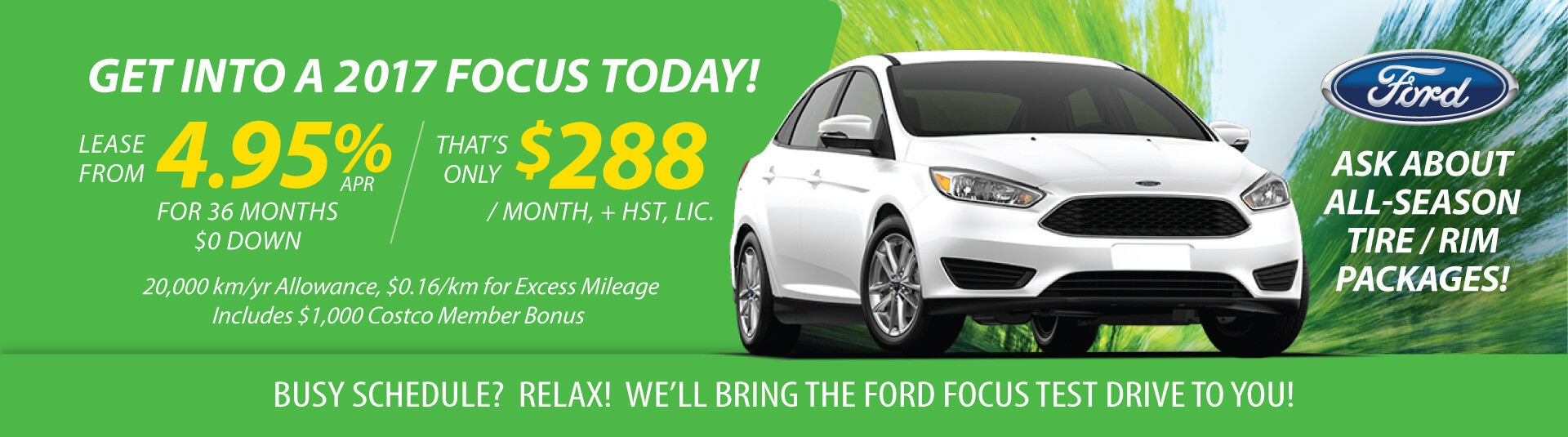 Lease Deal on Ford Focus
