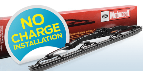 No-Charge Wiper Blade Installation