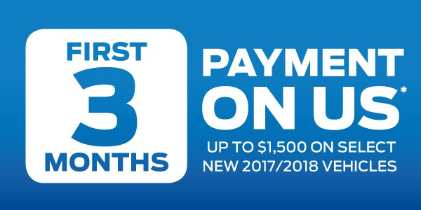 Ford 3 Payments Sales Event