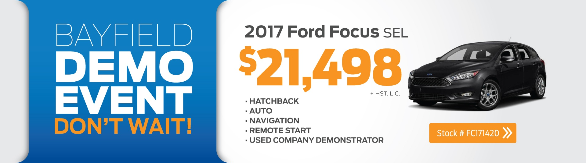 2017 Ford Focus Demo Deal