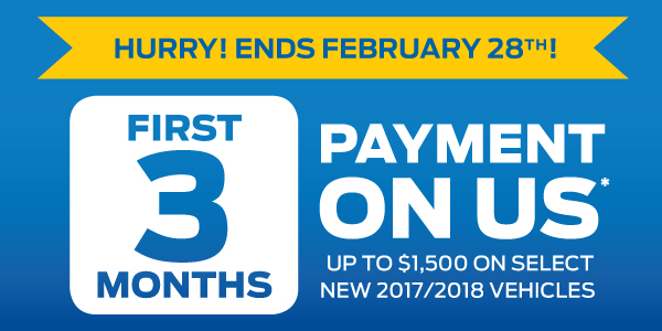 Ford 3 Months Payment Sales Event