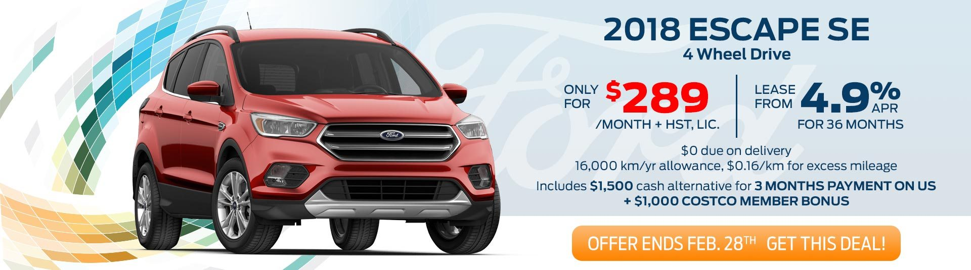 2018 Ford Escape SE Deals