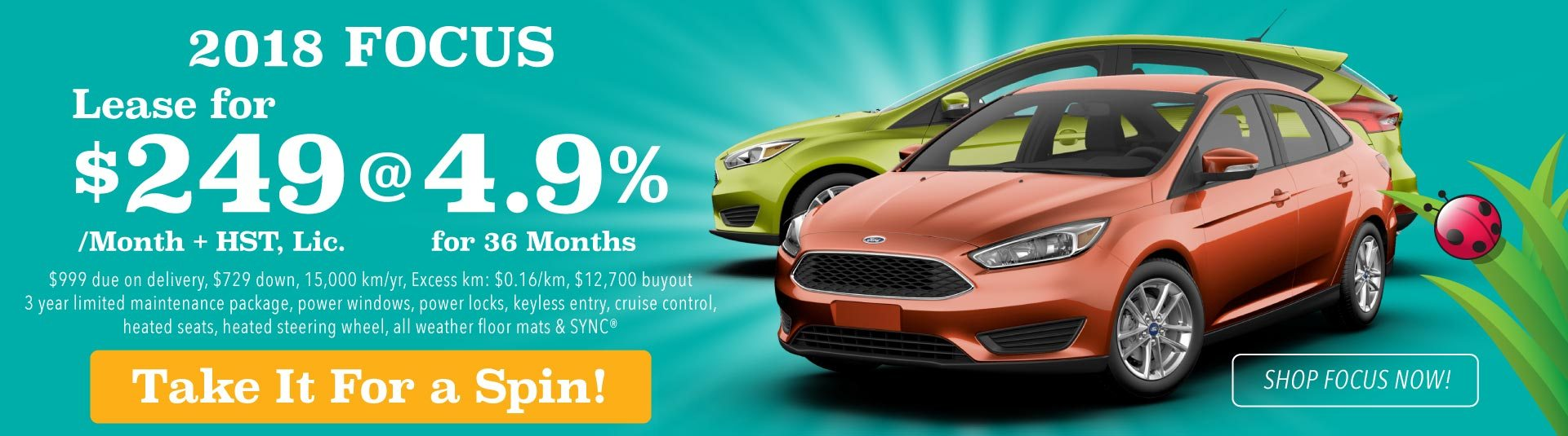 2018 Ford Focus Offer