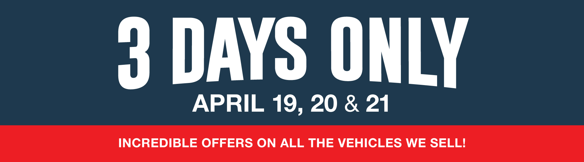 Bayfield Ford 3 Days Sales Event