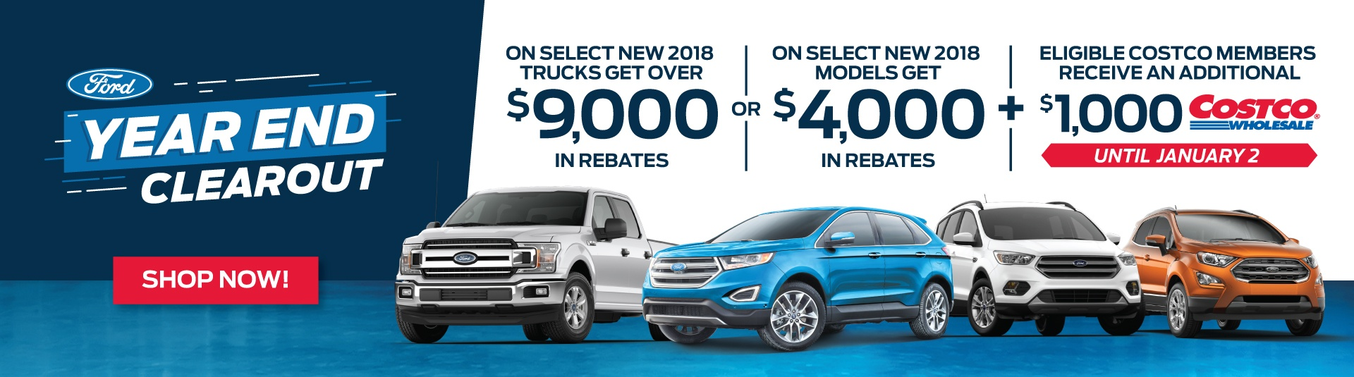 Ford Year End Clearout Event