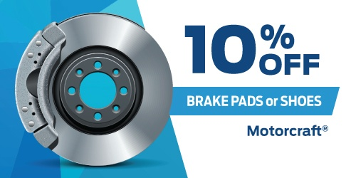 10% Off Motorcraft Brake Pads Or Shoes