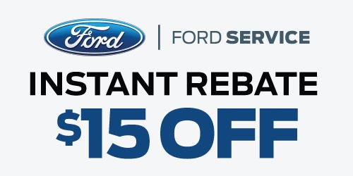 Ford-Certified Services Instant Rebate