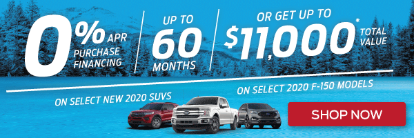 Exciting Ford offers on select 2020 models