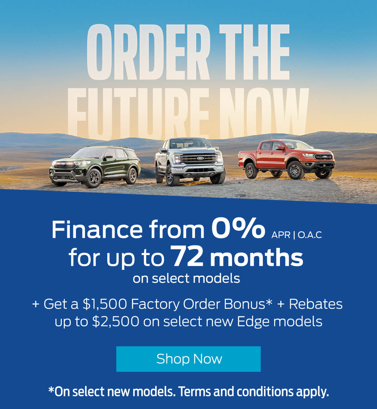 Order The Future Now - Bayfield Ford